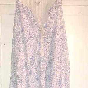 Old navy dress XXL NWT white/blue